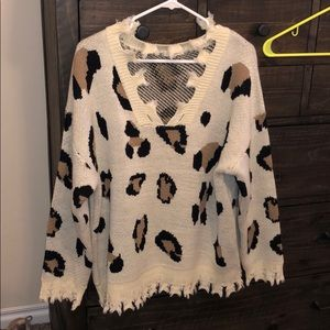 Impressions boutique leopard  sweater